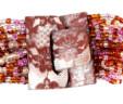 Pulseras Rosadas con Hebilla de Madera
